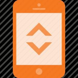 bandwidth, mobile, phone, smart, smartphone icon