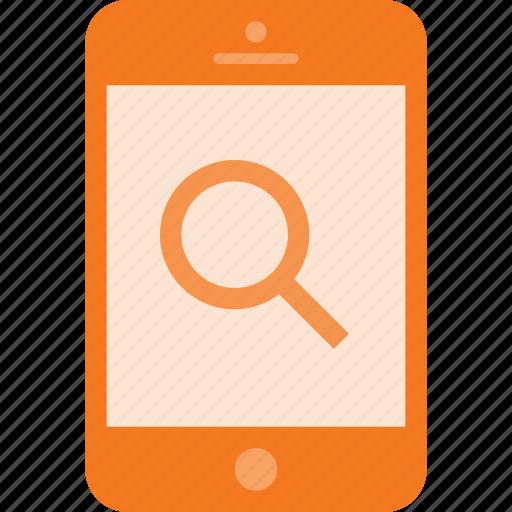 mobile, phone, search, smart, smartphone icon