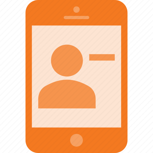 contact, phone, remouve, smart, smartphone icon