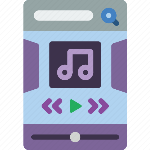 experience, mobile, music, player, smartphoned, user, ux icon