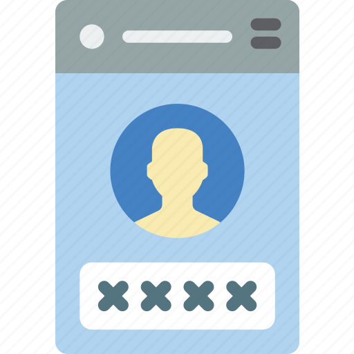experience, login, mobile, smartphone, user, ux icon