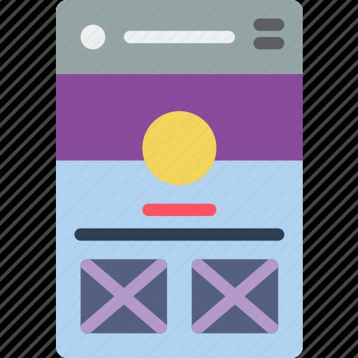 experience, mobile, profile, smartphone, user, ux icon