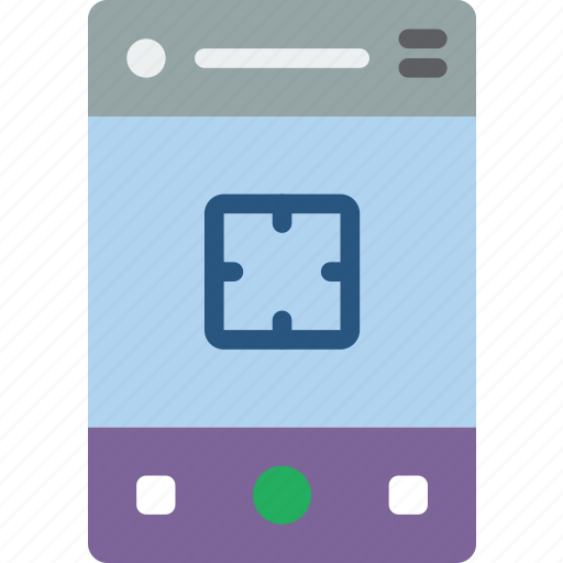 experience, mobile, smartphone, user, ux, viewfinder icon