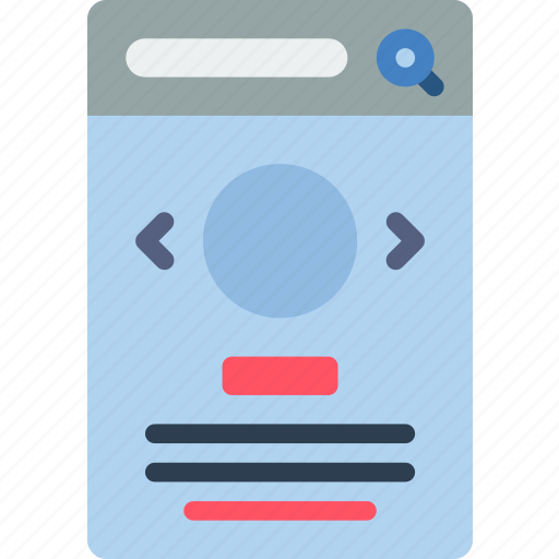 experience, mobile, round, slideshow, smartphone, user, ux icon