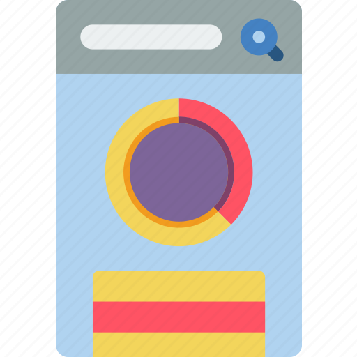 chart, experience, mobile, round, smartphone, user, ux icon