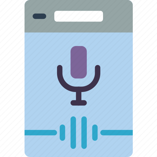 experience, mobile, recognition, smartphone, user, ux, voice icon