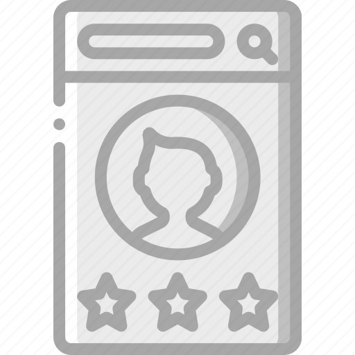 experience, male, mobile, rate, smartphone, user, ux icon
