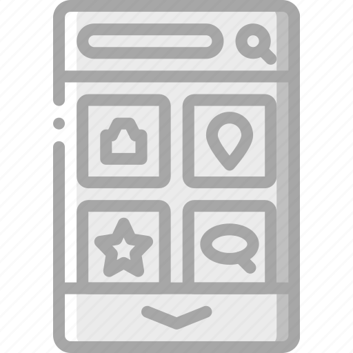 dashboard, experience, mobile, smartphone, user, ux icon