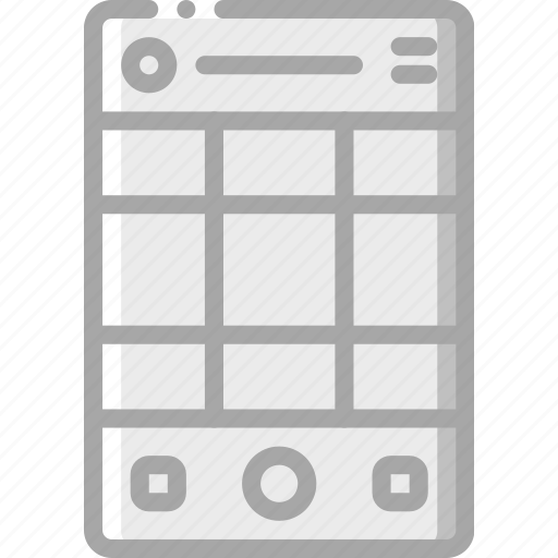 experience, grid, mobile, smartphone, user, ux, viewfinder icon