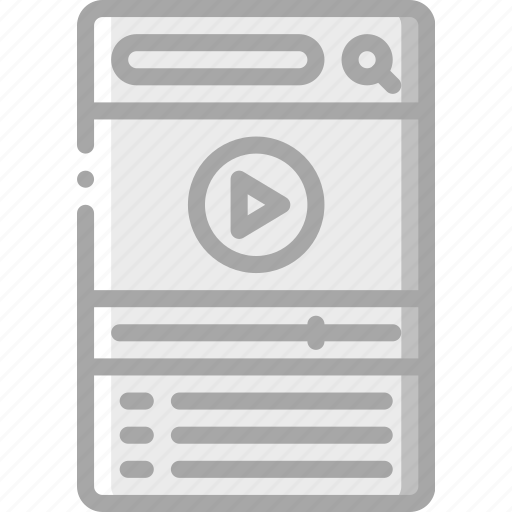 experience, mobile, movie, playlist, smartphone, user, ux icon