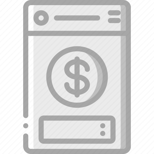 app, currency, experience, mobile, smartphone, user, ux icon