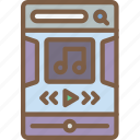 experience, mobile, music, player, smartphone, user, ux icon