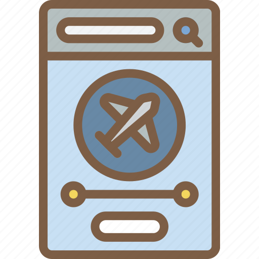 app, experience, flight, mobile, smartphone, user, ux icon