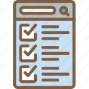 checklist, experience, mobile, smartphone, user, ux icon