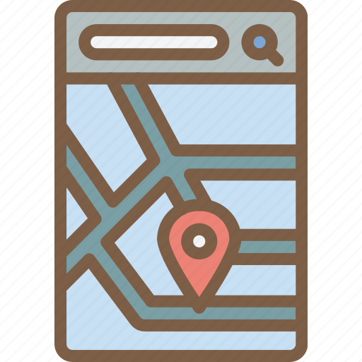 app, experience, map, mobile, smartphone, user, ux icon
