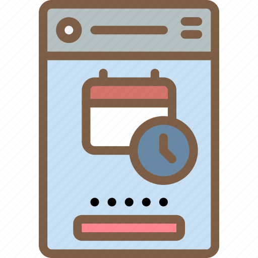 calendar, experience, mobile, set, smartphone, up, user, ux icon