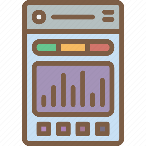 app, experience, graph, mobile, smartphone, user, ux icon