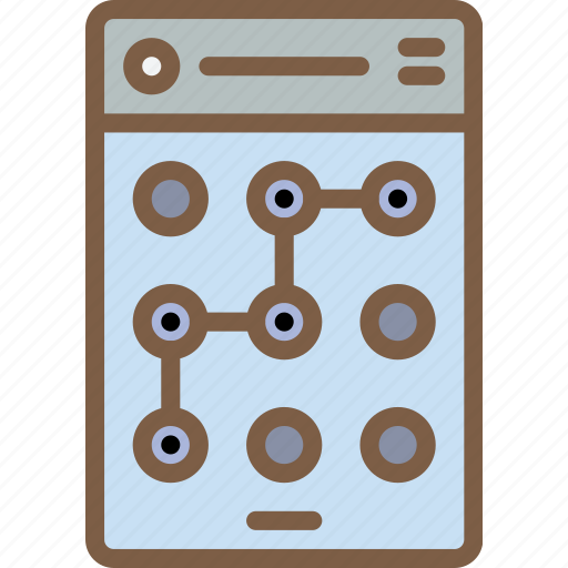 experience, login, mobile, pattern, smartphone, user, ux icon