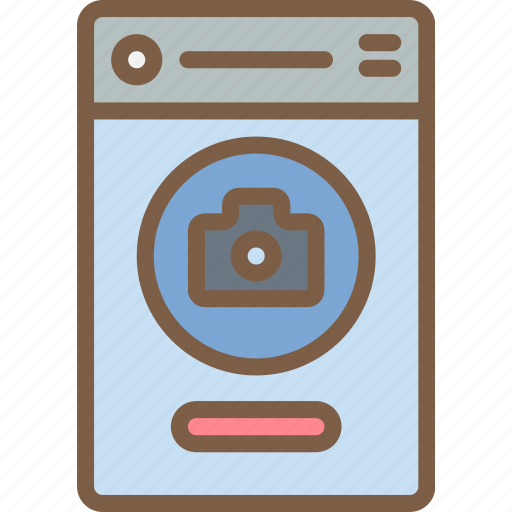 app, camera, experience, mobile, smartphone, user, ux icon