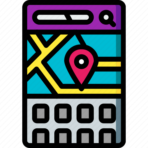 app, experience, location, mobile, smartphone, user, ux icon