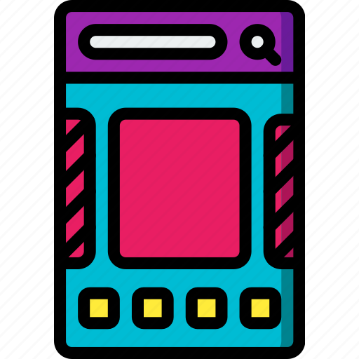 experience, mobile, slider, smartphone, thumbnail, user, ux icon