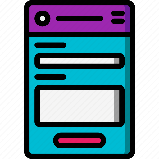 contact, experience, form, mobile, smartphone, user, ux icon