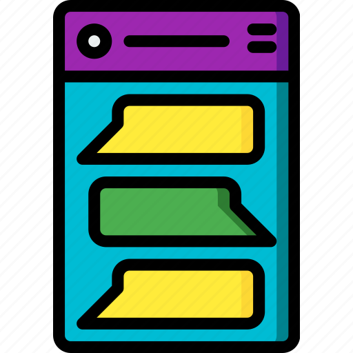 app, experience, message, mobile, smartphone, user, ux icon