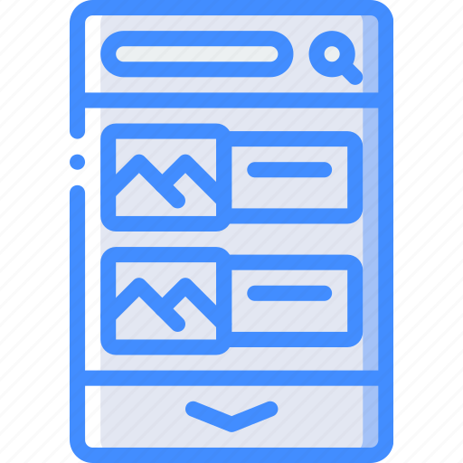 experience, gallery, image, mobile, smartphone, user, ux icon