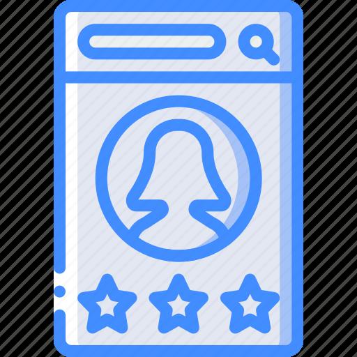 experience, female, mobile, rwte, smartphone, user, ux icon