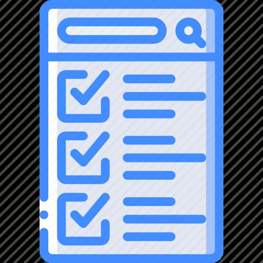 checklist, experience, mobile, smartphone, user, ux icon