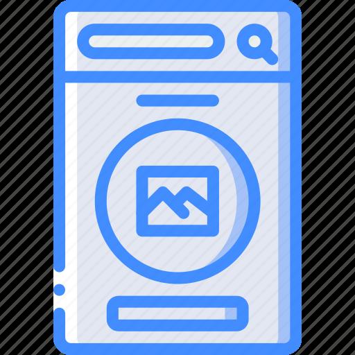 experience, image, mobile, profile, smartphone, user, ux icon