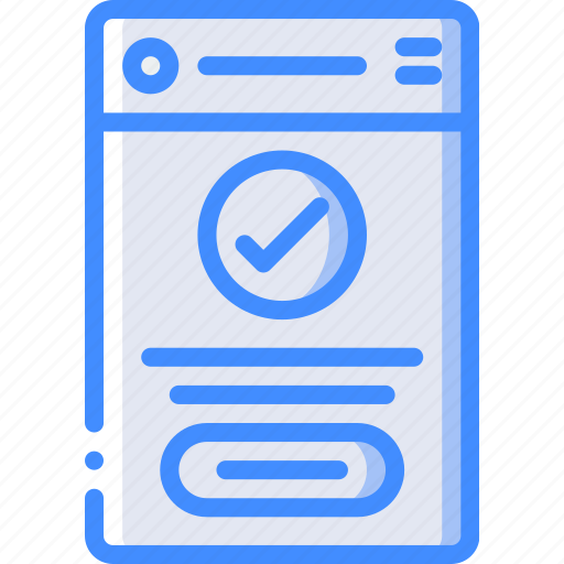 completed, experience, mobile, smartphone, user, ux icon