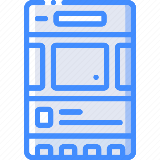 experience, mobile, page, slideshow, smartphone, user, ux icon