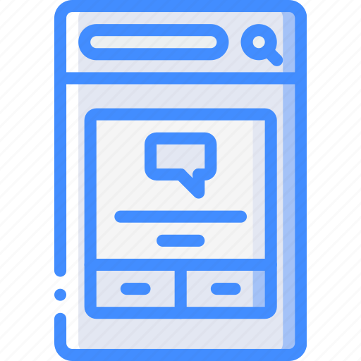 experience, message, mobile, notification, smartphone, user, ux icon