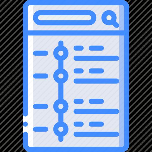 agenda, app, experience, mobile, smartphone, user, ux icon