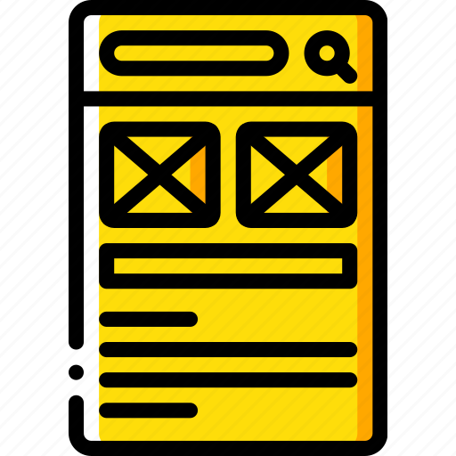experience, image, mobile, page, smartphone, user, ux icon