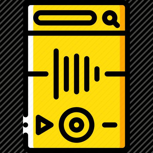 app, audio, experience, mobile, smartphone, user, ux icon