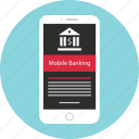 bank, banking, mobile, mockup, money, wireframe icon