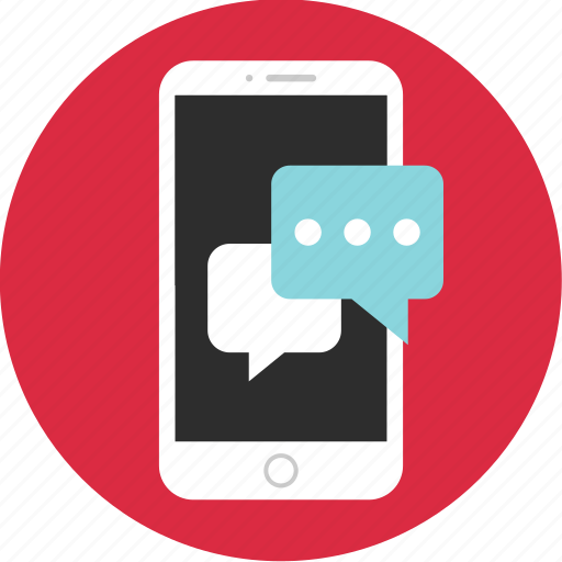 bubble, chat, chatting, mobile, mockup, talk, wireframe icon