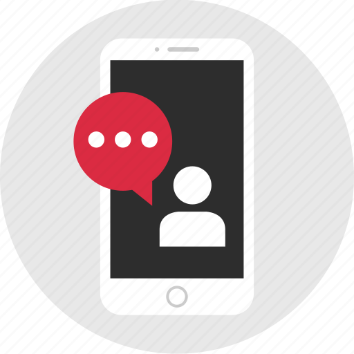 chat, conversation, mobile, mockup, sms, talk, wireframe icon