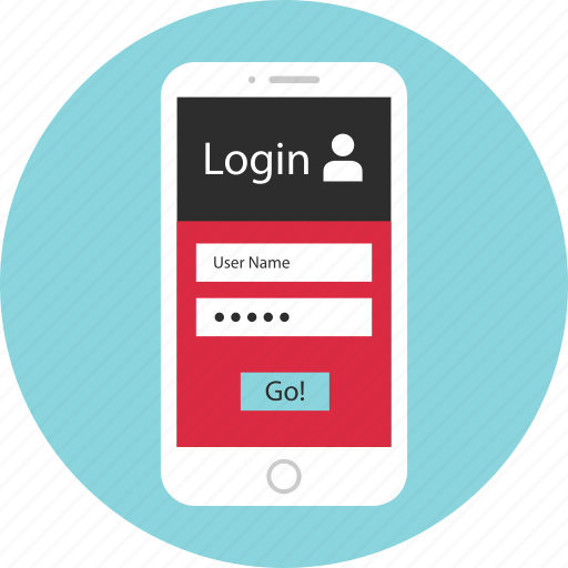 go, login, mobile, mockup, screen, wireframe icon