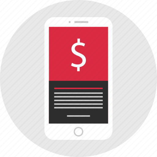 mobile, mockup, money, pay, payment, sign, wireframe icon