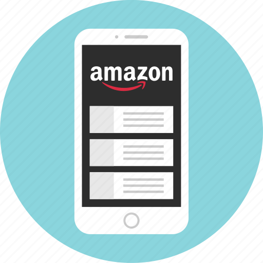 amazon, mobile, mockup, shop, shopping, wireframe icon