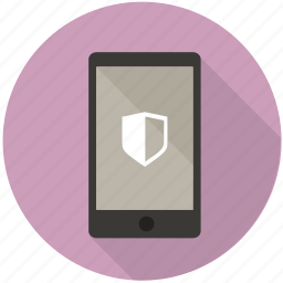 authentication, locked, mobile, private, protect, secure, shield icon