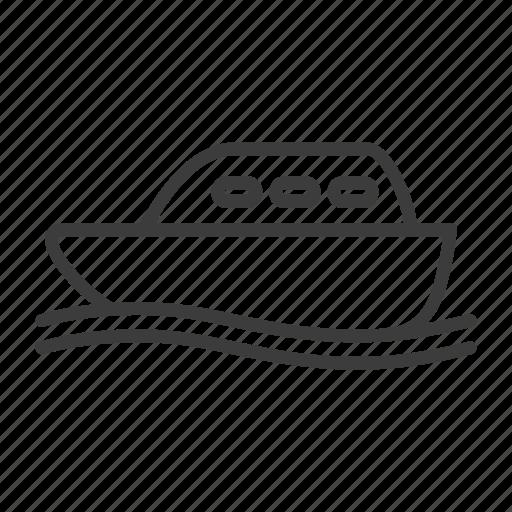 boat, cruise, ship icon