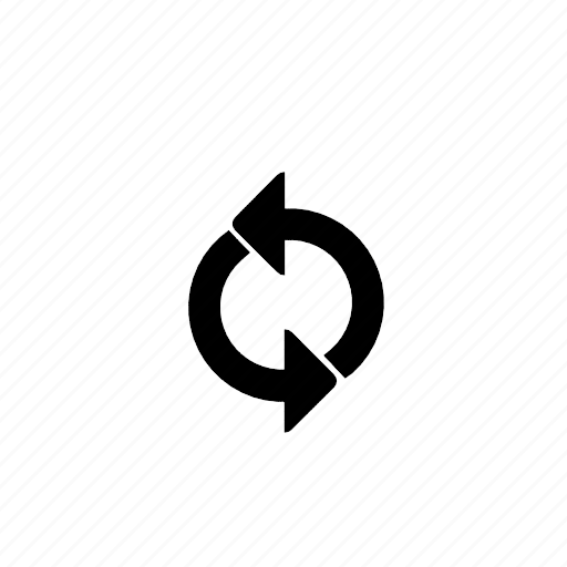 recycle, repeat icon