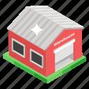 building, stockroom, storehouse, storeroom, warehouse icon