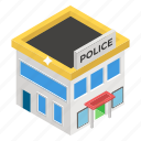 architecture, building, jail, office, police station icon