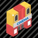 architecture, auditorium, cinema, concert hall, movie theater, open house icon