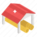 cover, dwelling, roof, shed, shelter, tensile icon
